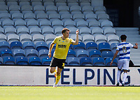 18th July 2020; The Kiyan Prince Foundation Stadium, London, England; English Championship Football, Matt Smith of Millwall celebrates after scoring his sides 1st goal in the 48th minute to make it 1-1
