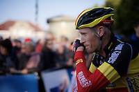 Belgian Champion Klaas Vantornout (BEL/Sunweb-Napoleon Games) post-race<br /> <br /> Elite Men's race<br /> bpost bank trofee<br /> GP Mario De Clercq Ronse 2015