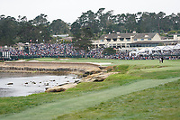 Shane Lowry (IRL) on the 18th fairway during the final round of the US Open Championship, Pebble Beach Golf Links, Monterrey, Calafornia, USA. 16/06/2019.<br /> Picture Fran Caffrey / Golffile.ie<br /> <br /> All photo usage must carry mandatory copyright credit (© Golffile | Fran Caffrey)