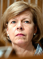United States Senator Tammy Baldwin (Democrat of Wisconsin) a member of the US Senate Committee on Health, Education, Labor and Pensions during the hearing  considering the confirmation of Betsy DeVos of Grand Rapids, Michigan to be US Secretary of Education on Capitol Hill in Washington, DC on Tuesday, January 17, 2017. Photo Credit: Ron Sachs/CNP/AdMedia