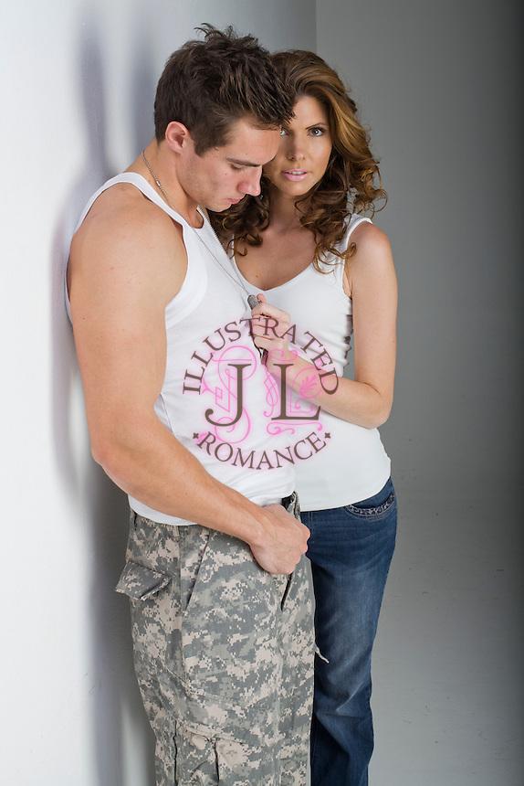Romance Book Cover Stock : Contemporary military stock photograph for romance novel