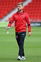 Fleetwood Town's Conor McAleny inspects the pitch before kick off<br /> <br /> Photographer David Shipman/CameraSport<br /> <br /> The EFL Sky Bet League One - Doncaster Rovers v Fleetwood Town - Saturday 17th August 2019  - Keepmoat Stadium - Doncaster<br /> <br /> World Copyright © 2019 CameraSport. All rights reserved. 43 Linden Ave. Countesthorpe. Leicester. England. LE8 5PG - Tel: +44 (0) 116 277 4147 - admin@camerasport.com - www.camerasport.com