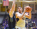 Albany defeats Maine 89-79 in an America East conference game on February 24, 2018 at SEFCU Arena in Albany, New York.  (Bob Mayberger/Eclipse Sportswire)