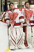 Ryan Carroll (Harvard - 35), Kyle Richter (Harvard - 33) - The Harvard University Crimson defeated the St. Lawrence University Saints 4-3 on senior night Saturday, February 26, 2011, at Bright Hockey Center in Cambridge, Massachusetts.