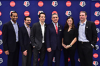 New York, NY - Thursday February 02, 2017: Jeff Plush during a joint NWSL and A+E Networks press conference at the A+E headquarters.