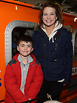 Donnacha and Orla Hodgins pictured at the open day at Clogherhead lifeboat station. Photo:Colin Bell/pressphotos.ie
