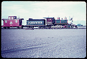 53-4 Narrow Gauge Motel train, Alamose, Co. Locomotive is ex D&amp;RGW No. 346. Caboose is ex Rio Grande Southern No. 05.&quot;<br /> D&amp;RGW  Alamosa, CO  Taken by LeMassena, Robert A. - 6/1975