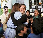 24.10.2017; Amman, Jordan: QUEEN RANIA<br />visits Al Rabahiya Secondary Mixed School in Amman.<br />Mandatory Photo Credit: &copy;Royal Hashemite Court/NEWSPIX INTERNATIONAL<br /><br />IMMEDIATE CONFIRMATION OF USAGE REQUIRED:<br />Newspix International, 31 Chinnery Hill, Bishop's Stortford, ENGLAND CM23 3PS<br />Tel:+441279 324672  ; Fax: +441279656877<br />Mobile:  0777568 1153<br />e-mail: info@newspixinternational.co.uk<br />&ldquo;All Fees Payable To Newspix International&rdquo;
