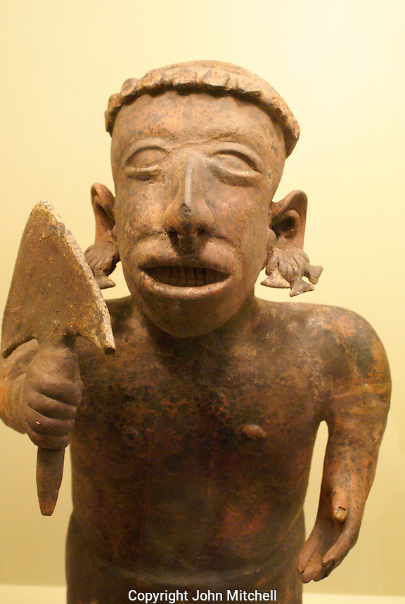 Pre Hispanic ceramic figurine from Colima, Museo Regional Potosino, San Luis de Potosi, Mexico