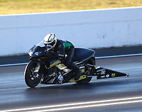 Jun 9, 2017; Englishtown , NJ, USA; NHRA pro stock motorcycle rider John Hall during qualifying for the Summernationals at Old Bridge Township Raceway Park. Mandatory Credit: Mark J. Rebilas-USA TODAY Sports