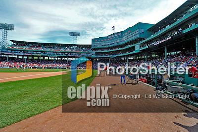 9 June 2012: The field Crew prepare the infield for play prior to a game between the Washington Nationals and the Boston Red Sox at Fenway Park in Boston, MA. The Nationals defeated the Red Sox 4-2 in the second game of their 3-game series. Mandatory Credit: Ed Wolfstein Photo