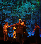 The Ensemble.during the Broadway Opening Night Performance Curtain Call for 'Peter And The Starcatcher' at the Brooks Atkinson Theatre on 4/15/2012 in New York City.