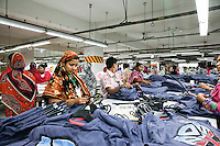 Female workers work at a garments factory in gazipur, near DHaka, Bnagladesh