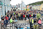 Over 200 Honda 50 enthusiasts took part on the Ring of Kerry Tour on Sunday pictured here at their lunch stop at the Cahersiveen Community Resource Center.