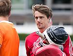 DEN HAAG - Keeper Sam van der Ven   tijdens  de trainingswedstrijd hockey Nederland-Argentinie (1-2).  COPYRIGHT KOEN SUYK