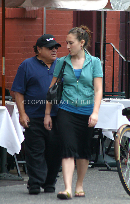 Papa Danny DeVito and daughter Gracie spotted strolling in SoHo. New York, June 29, 2004. Please byline: BRIAN FLANNERY/ACE Pictures.   ..  *** ***..All Celebrity Entertainment, Inc:  ..contact: Alecsey Boldeskul (646) 267-6913 ..Philip Vaughan (646) 769-0430..e-mail: info@nyphotopress.com