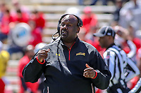 College Park, MD - April 27, 2019:  Maryland Terrapins head coach Michael Locksley during the spring game at  Capital One Field at Maryland Stadium in College Park, MD.  (Photo by Elliott Brown/Media Images International)