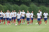 Washington D.C. VA. - Monday, August 31, 2015: The USMNT training in preparation for their international friendlies against Peru and Brazil at American University.