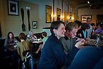 Aspen Kron, center, dines with her husband, Jason, at the bar at Cakes & Ale, photographed for Choice Tables on Friday, April 22, 2011 in Decatur. GA.  (Rich Addicks/Photographer) 10110950A
