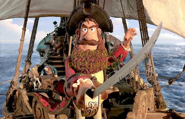 Hugh Grant as Pirate Captain .in The Pirates! In an Adventure with Scientists.*Filmstill - Editorial Use Only*.CAP/PLF.Supplied by Capital Pictures.