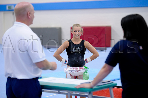14.09.2011 British Gymnastics Press Day.Members of the National Squad in training before the World Championships in Tokyo.