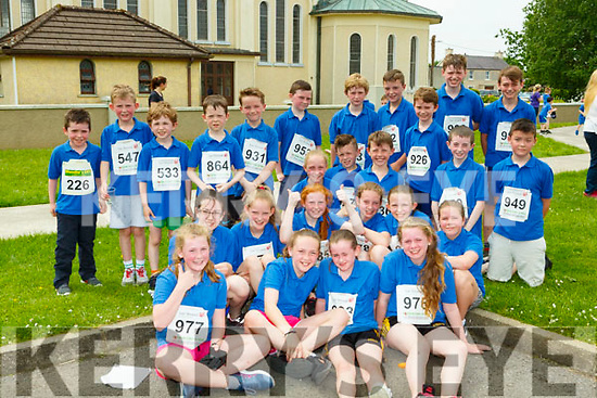 Pupils from Currow NS who completed the Reader to 3K run in Currow on Friday