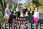 Irwin Dancing school  enjoying the Killorglin St Patricks Day Parade on Tuesday