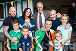 Jordan Lee with his family Dermot, Mary, Paddy, Jack and Liam Buckley, Jarlath, Isabella and Rachel Lee  Killarney with his bronze medal he won at the European Para Athletics  Championships in Berlin at his homecoming on Monday evening