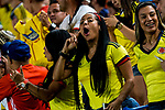 Supporters of Colombia during the friendly match between Spain and Colombia at Nueva Condomina Stadium in Murcia, jun 07, 2017. Spain. (ALTERPHOTOS/Rodrigo Jimenez)