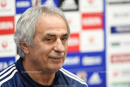Vahid Halilhodzic (JPN), <br /> MARCH 30, 2015 - Football / Soccer : <br /> Japan training session <br /> at Tokyo Stadium in Tokyo, Japan. <br /> (Photo by AFLO SPORT)
