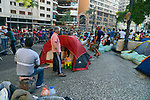 Acampamento de vitimas de predio que desabou, Sao Paulo. 2018. Foto de Juca Martins.