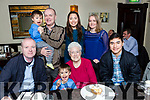 Patricia Roche, Farranfore celebrated her 80th birthday in Lord Kenmares restaurant on saturday night with her family Kieran, Michael, and Luis Roche, Back row: Peter, Gerard, Josselyn and Cecilia Roche