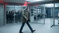 Ed Needham (Lakeith Stanfield) at Arlanda airport in The Girl in the Spider's Web (2018) <br /> *Filmstill - Editorial Use Only*<br /> CAP/RFS<br /> Image supplied by Capital Pictures