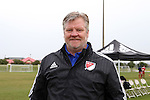12 January 2016: Team Ace head coach Greg Andrulis (George Mason). The adidas 2016 MLS Player Combine was held on the cricket oval at Central Broward Regional Park in Lauderhill, Florida.