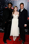 """HOLLYWOOD, CA. - December 17: Actor Samuel L. Jackson, Actress Scarlett Johansson and Actor Gabriel Macht  arrive at the Los Angeles premiere of """"The Spirit"""" at the Grauman's Chinese Theater on December 17, 2008 in Hollywood, California."""