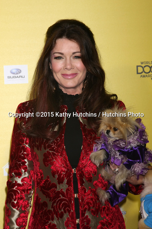 "LOS ANGELES - JAN 10:  Lisa Vanderpump, Giggy at the CW Network presents ""World Dog Awards"" at a Barker Hanger on January 10, 2015 in Santa Monica, CA"