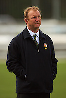 Australia assistant coach Tim Wallace during the International rugby match between New Zealand Secondary Schools and Suncorp Australia Secondary Schools at Yarrows Stadium, New Plymouth, New Zealand on Friday, 10 October 2008. Photo: Dave Lintott / lintottphoto.co.nz