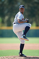Detroit Tigers pitcher Gregory Soto (31) delivers a pitch during a Florida Instructional League game against the Pittsburgh Pirates on October 2, 2018 at the Pirate City in Bradenton, Florida.  (Mike Janes/Four Seam Images)