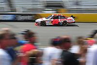 May 2, 2008; Richmond, VA, USA; NASCAR Sprint Cup Series driver Travis Kvapil during practice for the Dan Lowry 400 at the Richmond International Raceway. Mandatory Credit: Mark J. Rebilas-