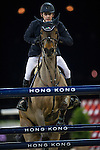 Billy Twomey on Diaghilev competes during the Airbus Trophy at the Longines Masters of Hong Kong on 20 February 2016 at the Asia World Expo in Hong Kong, China. Photo by Juan Manuel Serrano / Power Sport Images