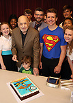 Charles Strouse with grandson, cast and company celebrating his 90th Birthday during the Children's Theatre of Cincinnati presentation for composer Charles Strouse of 'Superman The Musical' at Ripley Grier Studios on June 8, 2018 in New York City.
