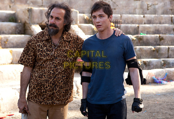Stanley Tucci &amp; Logan Lerman<br /> in Percy Jackson: Sea of Monsters (2013) <br /> *Filmstill - Editorial Use Only*<br /> CAP/FB<br /> Image supplied by Capital Pictures