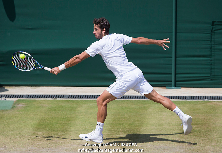 FELICIANO LOPEZ (ESP)<br /> <br /> The Championships Wimbledon 2014 - The All England Lawn Tennis Club -  London - UK -  ATP - ITF - WTA-2014  - Grand Slam - Great Britain -  30th June 2014. <br /> <br /> © AMN IMAGES