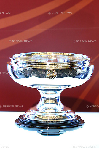 Emperor's Cup Trophy,<br /> FEBRUARY 19, 2015 - Football / Soccer : <br /> 2015 J.LEAGUE Press Conference <br /> at Grand Prince Hotel Shin-Takanawa, Tokyo, Japan. <br /> (Photo by Shingo Ito/AFLO SPORT)