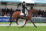 Alice Dunsdon riding Fernhill Present during the dressage phase of the 2012 Land Rover Burghley Horse Trials in Stamford, Lincolnshire