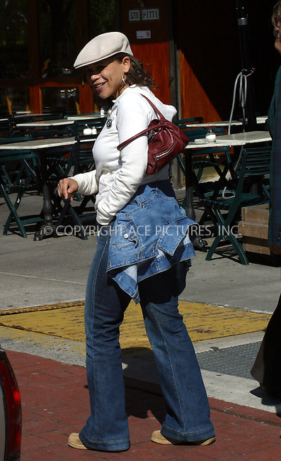 Actress Rosie Perez smiles as our photographer spots her out for a stroll in Soho, New York City. April 28 2004. Please byline: BRIAN FLANNERY/ ACE Pictures.   ..*PAY-PER-USE*      ....IMPORTANT: Please note that our old trade name, NEW YORK PHOTO PRESS (NYPP), is replaced by our new name, ACE PICTURES. New York Photo Press and ACE Pictures are owned by All Celebrity Entertainment, Inc.......All Celebrity Entertainment, Inc:  ..contact: Alecsey Boldeskul (646) 267-6913 ..Philip Vaughan (646) 769-0430..e-mail: info@nyphotopress.com