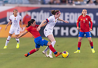 , FL - : Lixy Rodriguez #12 of Costa Rica tries to tackle Rose Lavelle #16 of the United States during a game between  at  on ,  in , Florida.