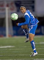 Boston Breakers midfielder-forward Angela Hucles (16). The Boston Breakers defeated Saint Louis Athletica, 2-0, at Harvard Stadium on April 11, 2009.