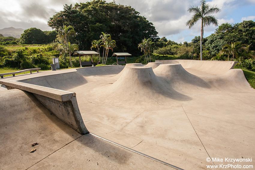 Skateboard park in Hana, Maui