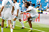 9th September 2017, Santiago Bernabeu, Madrid, Spain; La Liga football, Real Madrid versus Levante; Marcelo Viera da Silva (12) of Real Madrid warming up